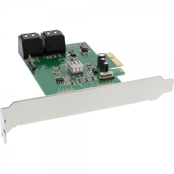 InLine® Schnittstellenkarte, 4x SATA 6Gb/s, mit 4x SATA, PCIe 2.0 (PCI-Express)