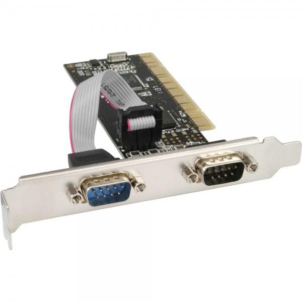 InLine® Schnittstellenkarte, 2x 9pol seriell, PCI