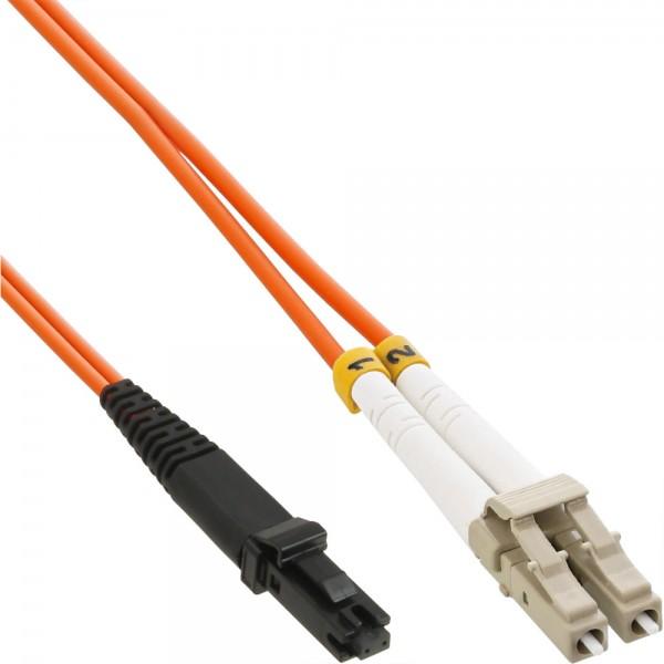 InLine® LWL Duplex Kabel, MTRJ/LC, 50/125µm, OM2, 3m