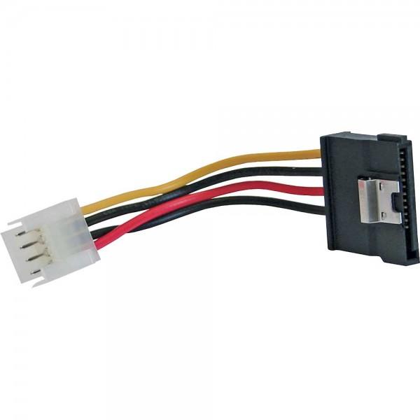 """InLine® SATA Stromadapterkabel, 1x 8,89cm (3,5"""") Buchse an 15pol SATA Stecker mit Lasche, 0,06m"""