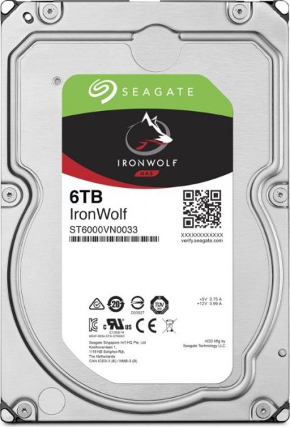 Seagate IronWolf NAS HDD 6TB, SATA 6Gb/s (ST6000VN0033)