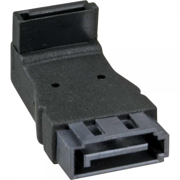 InLine® SATA Adapter Stecker / Buchse, gewinkelt nach oben