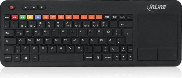 InLine® Wireless Smart-TV Tastatur, schwarz