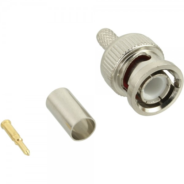 InLine® BNC Crimpstecker, RG59, für Video-Kabel
