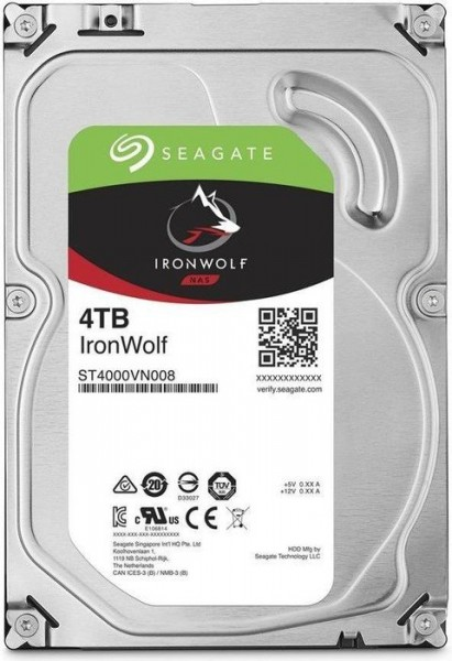 Seagate IronWolf NAS HDD 4TB, SATA 6Gb/s (ST4000VN008)