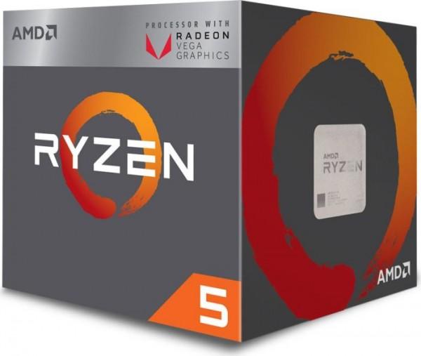 AMD Ryzen 5 2400G Box AM4 (3,900GHz) YD2400C5FBBOX with Wraith Stealth cooler