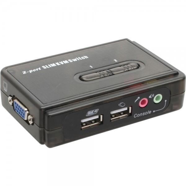 InLine® KVM Switch, 2-fach, USB, mit Audio