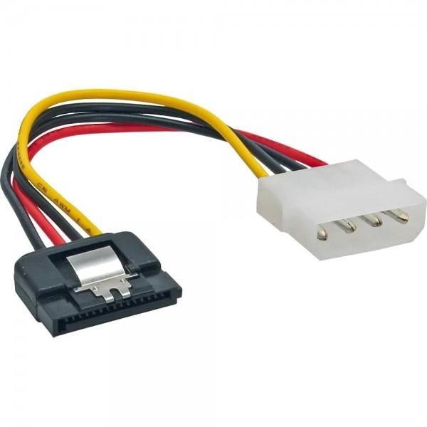 """InLine® SATA Stromadapterkabel, 1x 13,34cm (5,25"""") Buchse an 15pol SATA Stecker, 0,15m, m. Lasche"""