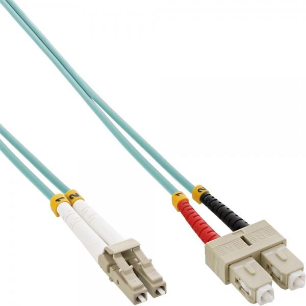 InLine® LWL Duplex Kabel, LC/SC 50/125µm, OM3, 7,5m