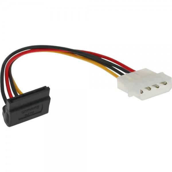 """InLine® SATA Stromadapterkabel, 1x 13,34cm (5,25"""") Buchse an 15pol SATA Stecker, nach oben abgewinke"""