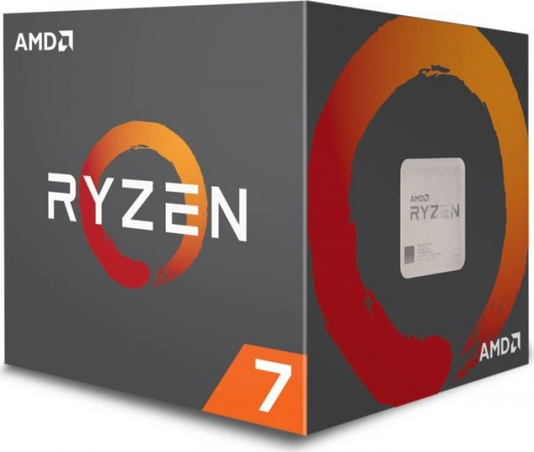 AMD Ryzen 7 2700 Box AM4 (4,100GHz) YD2700BBAFBOX with Wraith Spire (LED) cooler