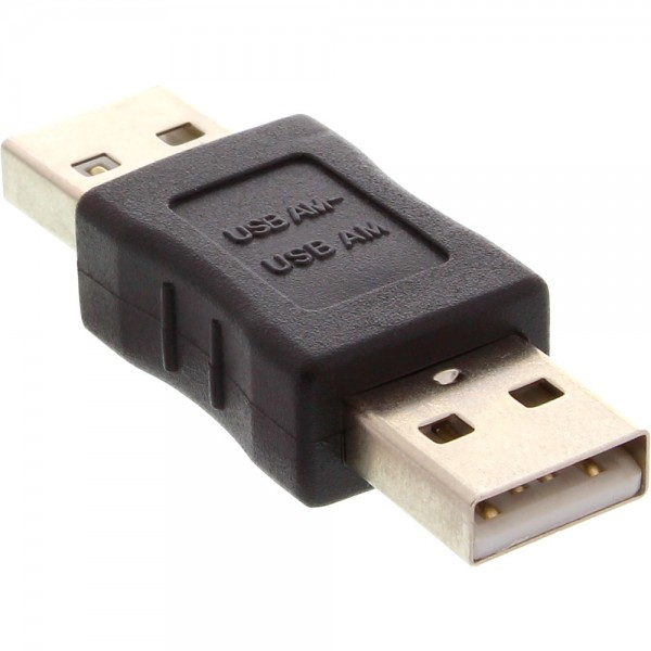 InLine® USB 2.0 Adapter, Stecker A auf Stecker A