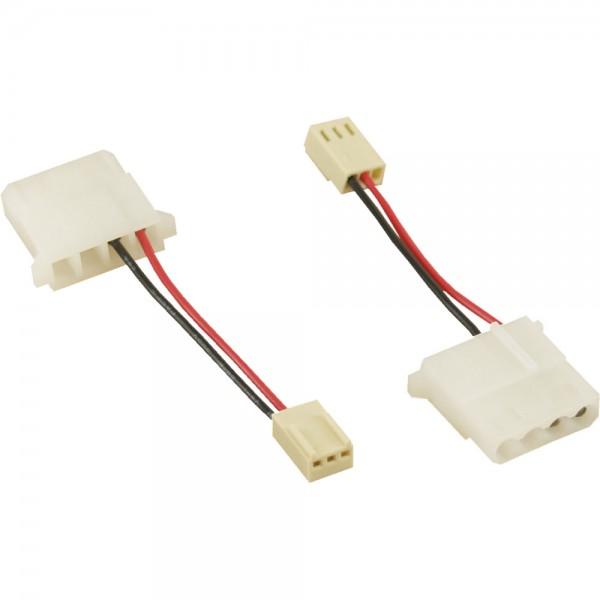 InLine® Lüfter Adapterkabel, 12V DC, 3pol an 4pol