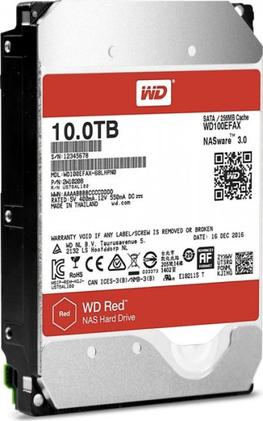 """Western Digital WD Red 10TB, 3.5"""", SATA 6Gb/s (WD100EFAX)"""