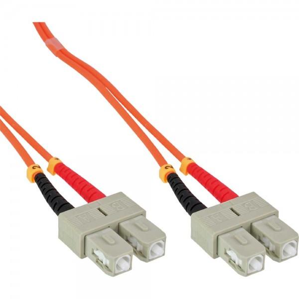 InLine® LWL Duplex Kabel, SC/SC, 50/125µm, OM2, 15m