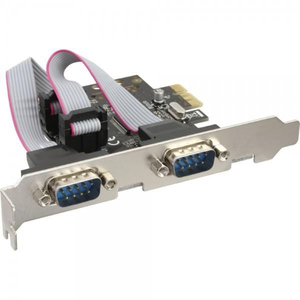InLine® Schnittstellenkarte, 2x Seriell 9-pol, PCIe (PCI-Express)