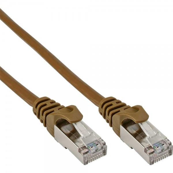 InLine® Patchkabel, SF/UTP, Cat.5e, braun, 7,5m