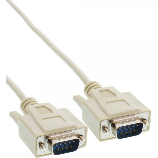 InLine® Serielles Kabel, 9pol Stecker / Stecker, vergossen, 1:1 belegt, 2m