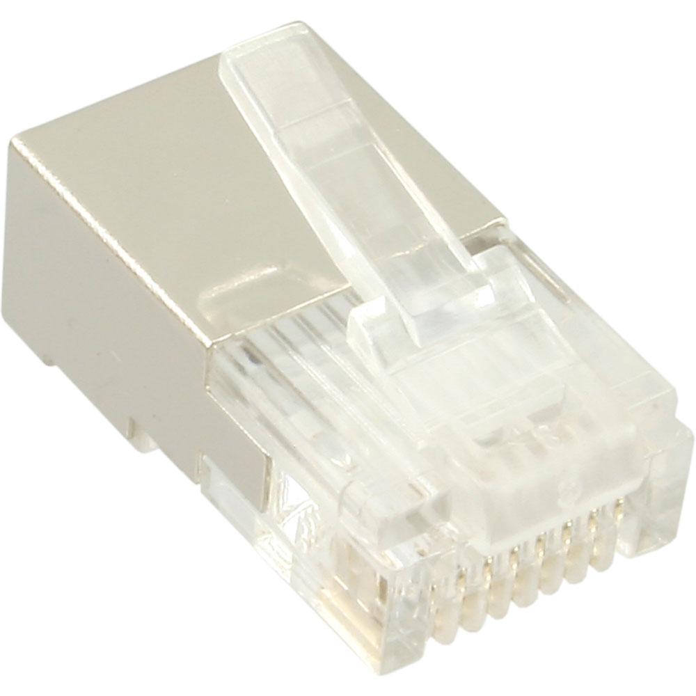 inline® modularstecker 8p8c rj45 zum crimpen auf rundkabel