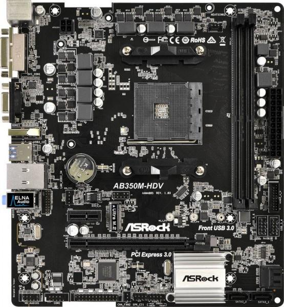 ASRock AB350M-HDV (90-MXB3P0-A0UAYZ)