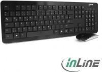 InLine Wireless Basic Desktop, Tastatur-Maus Set, schwarz, USB, DE (55368)