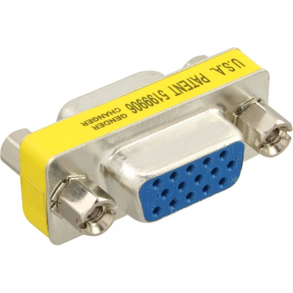 InLine® Mini-Gender-Changer, 15pol HD (VGA), Buchse / Buchse