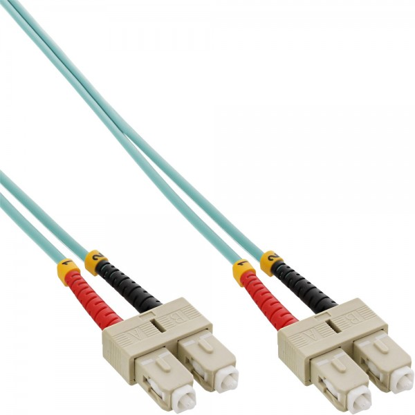 InLine® LWL Duplex Kabel, SC/SC, 50/125µm, OM3, 10m
