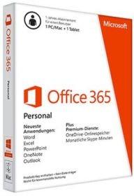 Microsoft Office 365 Personal, 1 Jahr, PKC (deutsch) (PC/MAC) (QQ2-00759)
