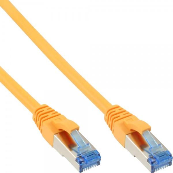 InLine® Patchkabel, S/FTP (PiMf), Cat.6A, 500MHz, halogenfrei, Kupfer, gelb, 10m
