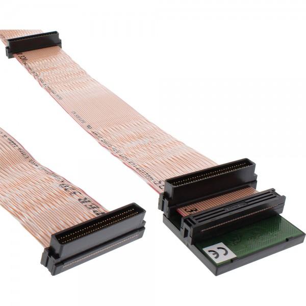 InLine® SCSI U320 Flachbandkabel, 68pol, 5 Abgriffe, für 4 Geräte, mit Terminator