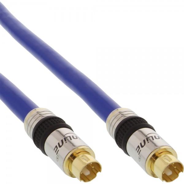 InLine® S-VHS Kabel, PREMIUM, vergoldete Stecker, 4pol mini DIN Stecker / Stecker, 5m