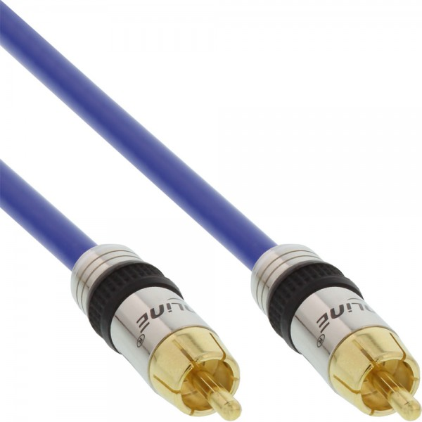 InLine® Cinch Kabel AUDIO, PREMIUM, vergoldete Stecker, 1x Cinch Stecker / Stecker, 5m