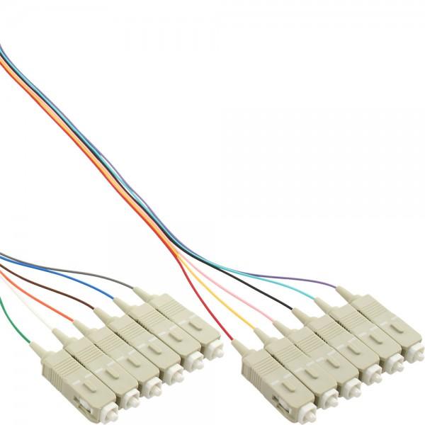 12er Set InLine® LWL Pigtail, SC 50/125µm, OM2, 2m