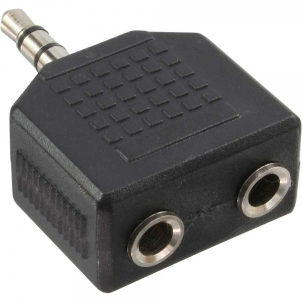 InLine® Audio Adapter, 3,5mm Klinke Stecker an 2x 3,5mm Klinke Buchse, Stereo