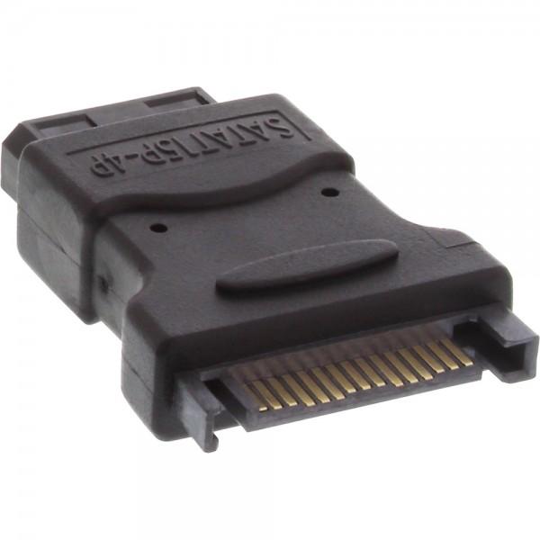 "InLine® SATA Stromadapter, 1x 13,34cm (5,25"") Stecker an 15pol SATA Buchse"