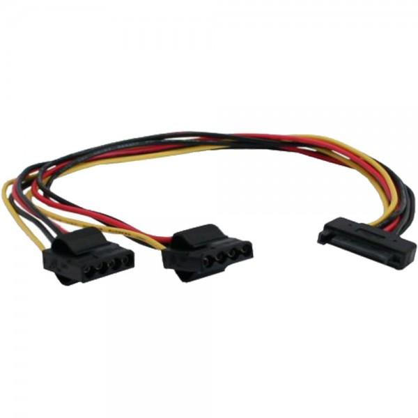 """InLine® SATA Strom-Y-Kabel, SATA Buchse an 2x 13,34cm (5,25"""") Stecker, 0,3m"""