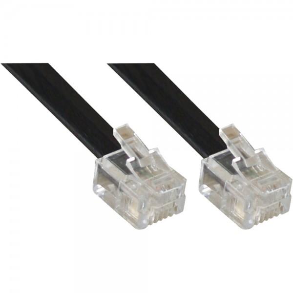 InLine® Modularkabel RJ11, Stecker / Stecker, 4adrig, 6P4C, 3m
