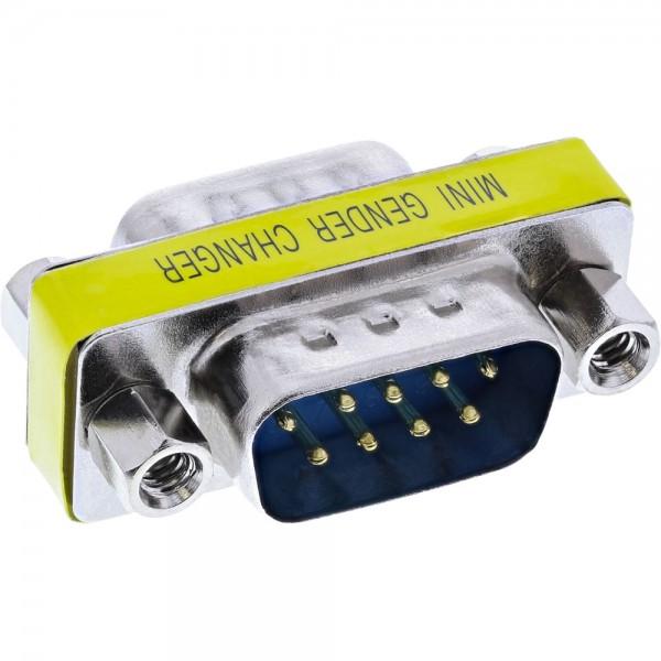 InLine® Mini-Gender-Changer, 9pol Stecker / Stecker