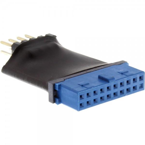 InLine® USB 3.0 zu 2.0 Adapter intern, USB 3.0 19pin auf USB 2.0 Pfostenstecker intern