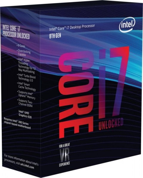 Intel Box Core i7 Processor i7-8700K 3,70Ghz 12M Coffee Lake