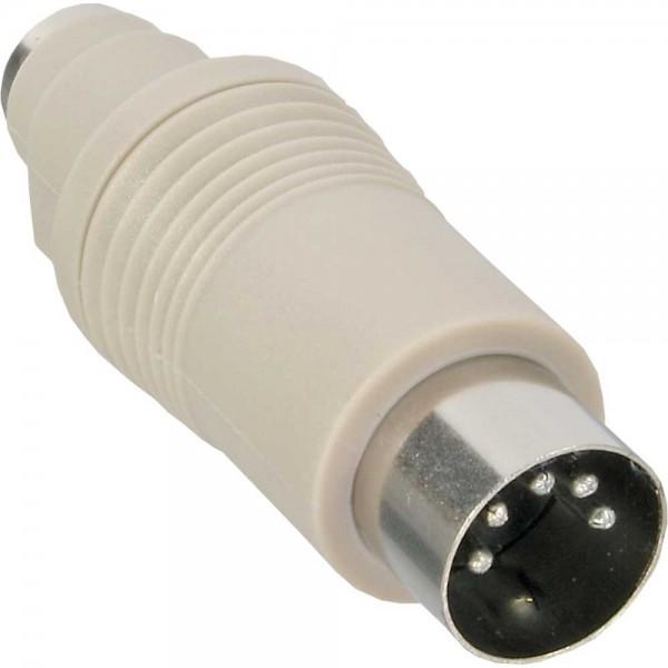 InLine® Tastatur-Adapter, 5pol DIN-Stecker auf PS/2 Buchse