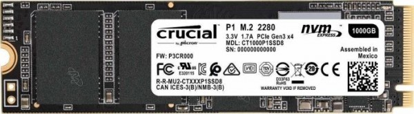 Crucial P1 SSD 1TB, M.2 (CT1000P1SSD8)