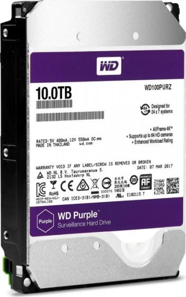 Western Digital WD Purple 10TB, SATA 6Gb/s (WD100PURZ)