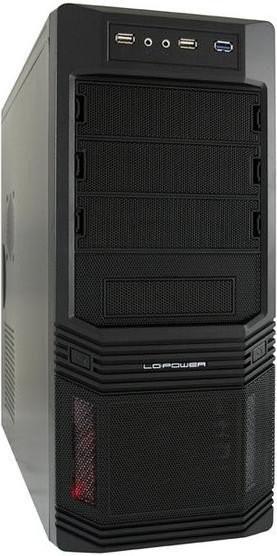 LC-Power Midi-Tower, ATX Gehäuse PRO-925B, mit LC600H-12 Netzteil, 600W