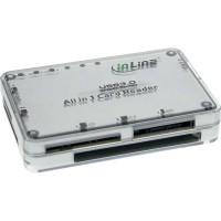 InLine' Cardreader, USB 3.0, all in 1, silber