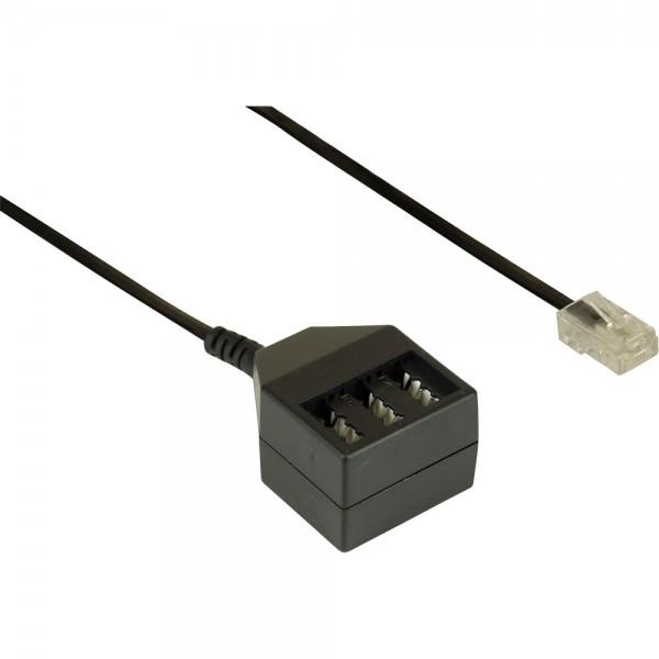 InLine® TAE Adapterkabel, RJ45 Stecker auf TAE NFN Dose, 20cm