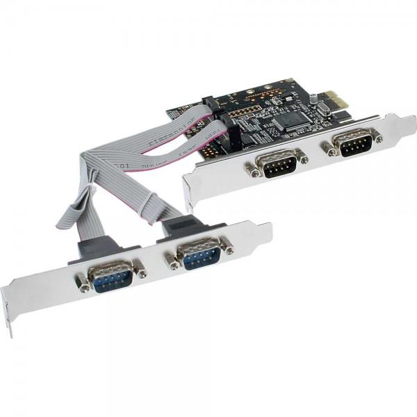 InLine® Schnittstellenkarte, 4x Seriell 9-pol, PCIe (PCI-Express)