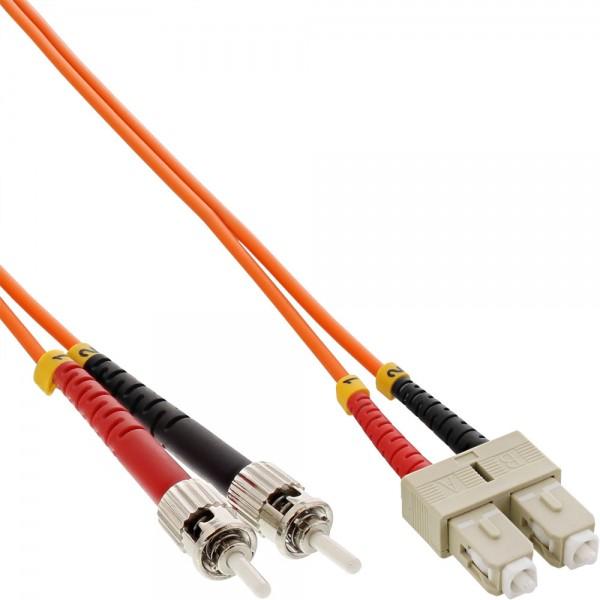 InLine® LWL Duplex Kabel, SC/ST, 50/125µm, OM2, 2m
