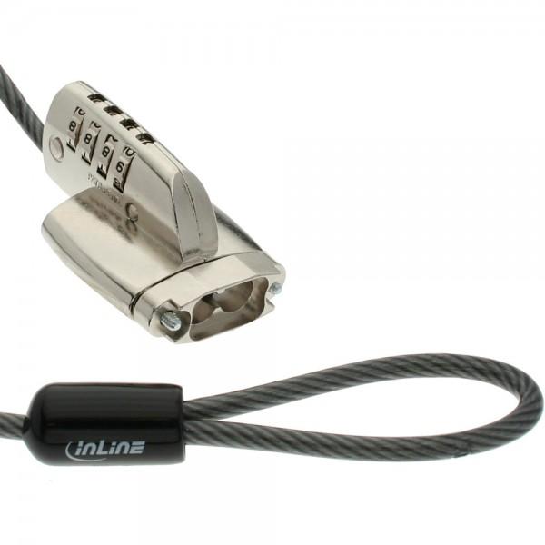 InLine® Sicherheits Kabelschloss, für D-Sub, 4,4mm x 2m