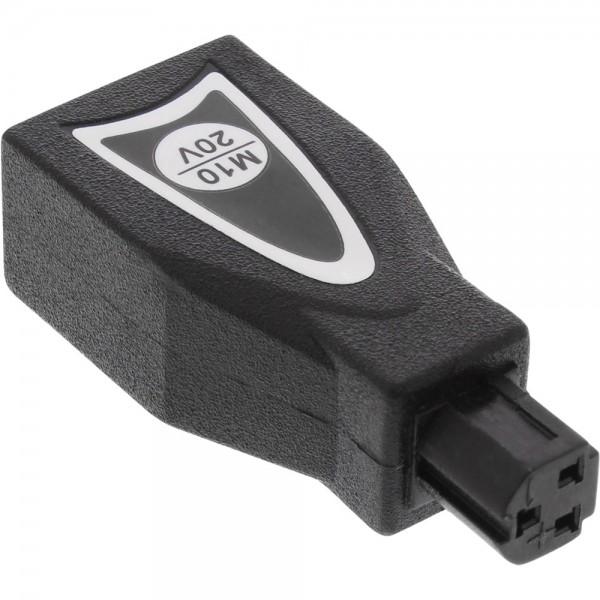 InLine® Wechselstecker M10 (20V) für Universal Netzteil, 90W/120W, schwarz